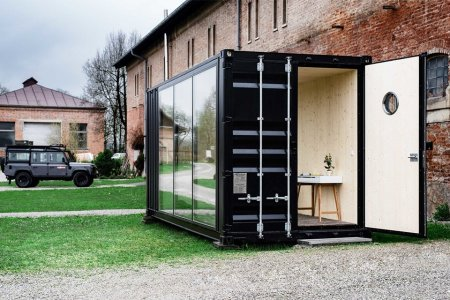You Can Now Rent a Shipping Container Mancave