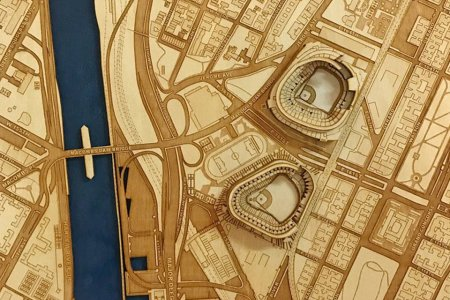 Every Mancave Could Use a Wooden Baseball Stadium Map