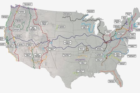 The 42 Longest Hiking Trails in the Continental U.S., Mapped