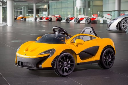Kids Who Care About Planet Earth Drive Pint-Sized McLaren P1s