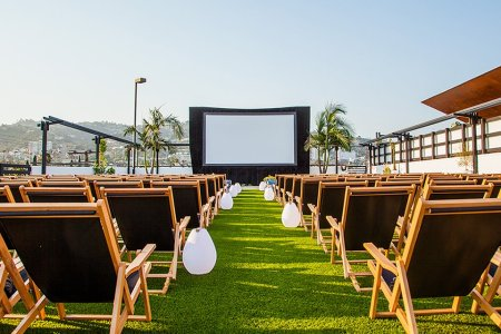 Grab Dinner and a Movie at LA's New Rooftop Cinema