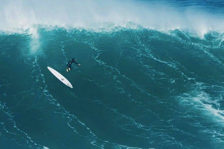 80 Straight Seconds of Surfers Trying, Failing to Ride Nazaré's Monster Wave