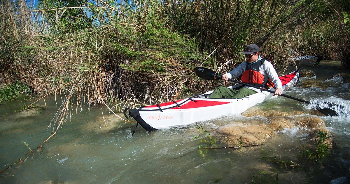 Inlet kayak folds like origami - Springwise | 630x1200