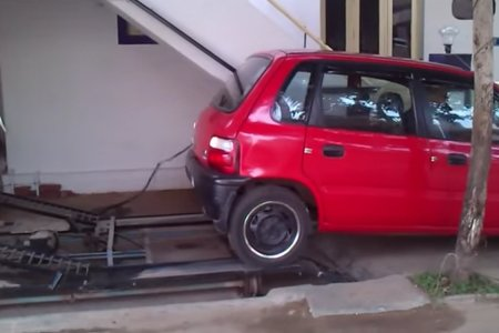 This Man's DIY Parking Solution? Unparalleled.