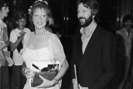 Eric Clapton and his wife Pattie Boyd  in 1983. (Getty Images)