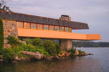 The Private Island Frank Lloyd Wright Built Is Up for Sale