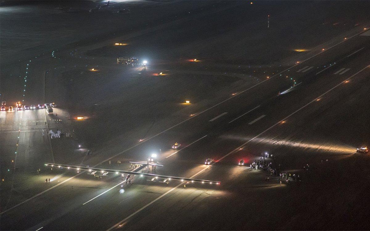 Solar-Powered Plane Finishes Round-the-World Flight