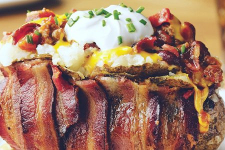 This Bacon-Wrapped Potato Is Now a Thing Served at NFL Games