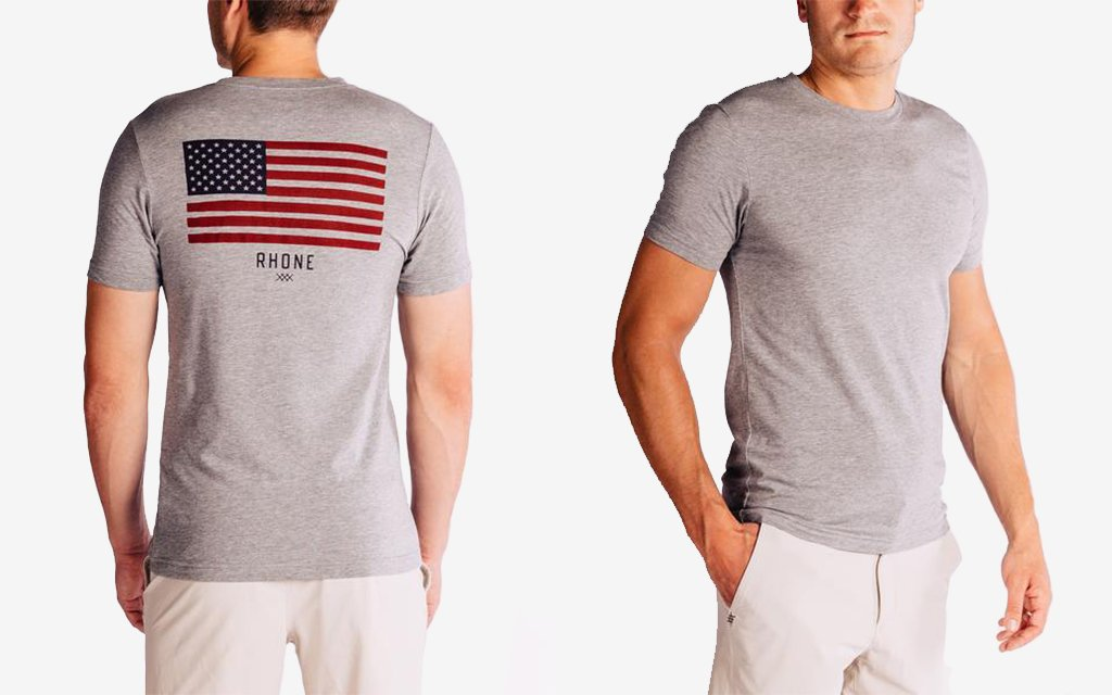 d8952d27 For those who've dutifully bought Old Navy's flag T-shirt year after year,  think about switching it up with this limited-edition tee from Rhone.