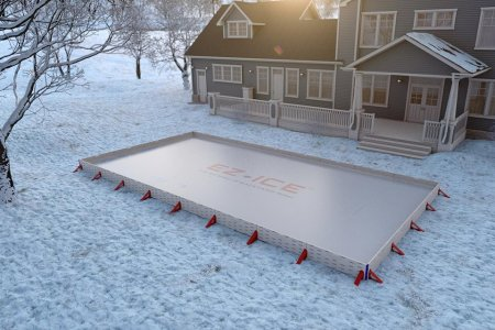 Good Luck Fitting This Pop-Up Ice Rink Under the Tree
