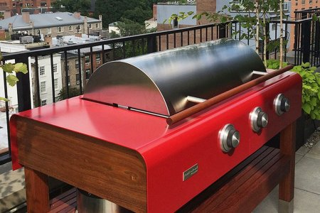 Here Is a Pretty Grill Your Deck Will Like