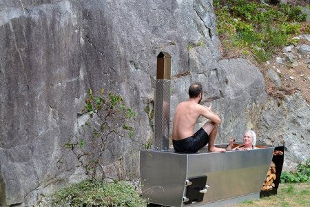 It's Always Hot Tub Season With a Wood-Fired Beaut Like This