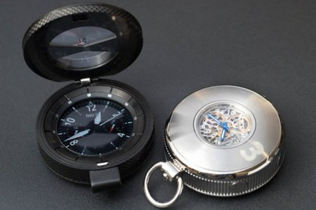 A Pocket Watch That's Equal Parts Compass and Smart Watch?