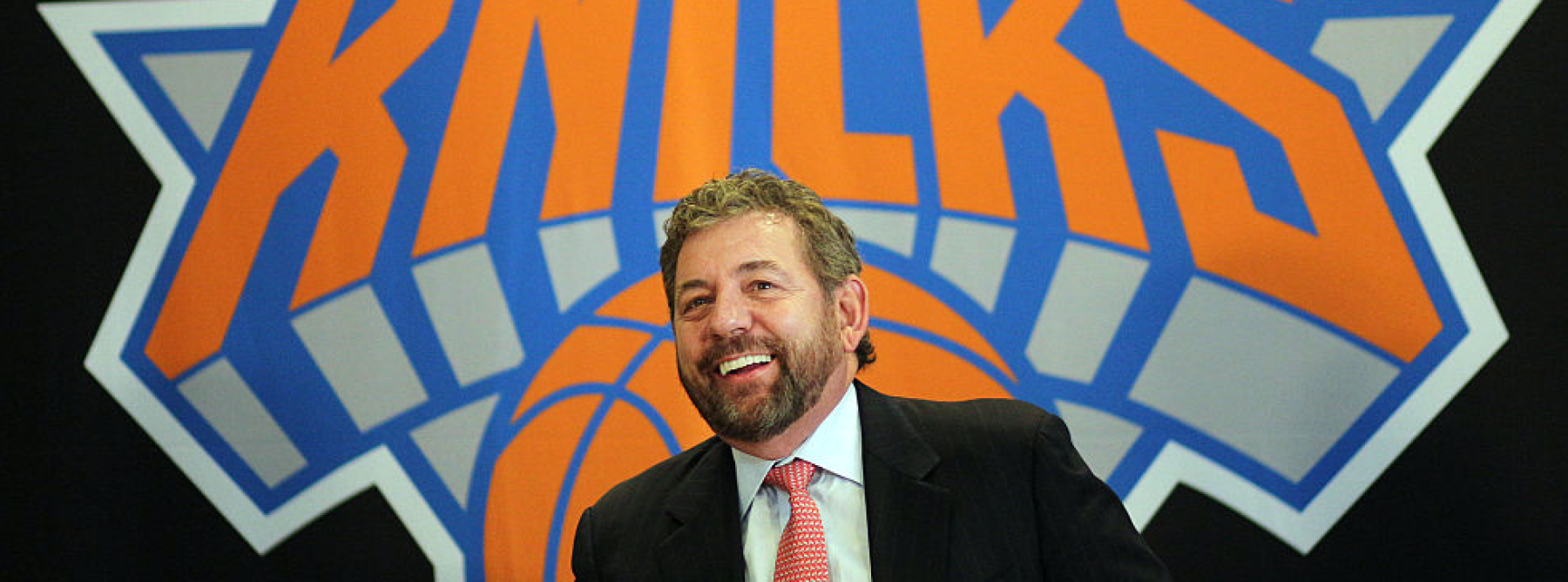 New York Knicks owner James Dolan at the Phil Jackson Press Conference introducing Jackson as the new president of the New York Knicks at Madison Square Garden, New York, USA. 18th March 2014. Photo Tim Clayton (Photo by Tim Clayton/Corbis via Getty Images)
