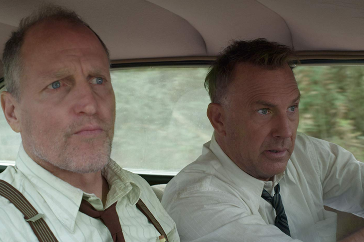 "Woody Harrelson and Kevin Costner, right, in a scene from the trailer on IMDB.com for ""The Highwaymen."" (IMDB)"