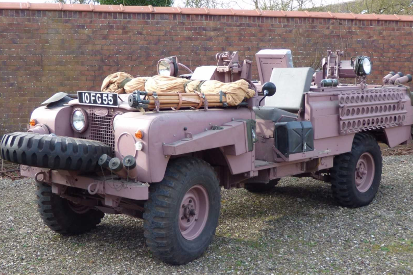 The Series 2A SAS Land Rover Pink Panther being sold by P.A Blanchard & Co. (P.A Blanchard)