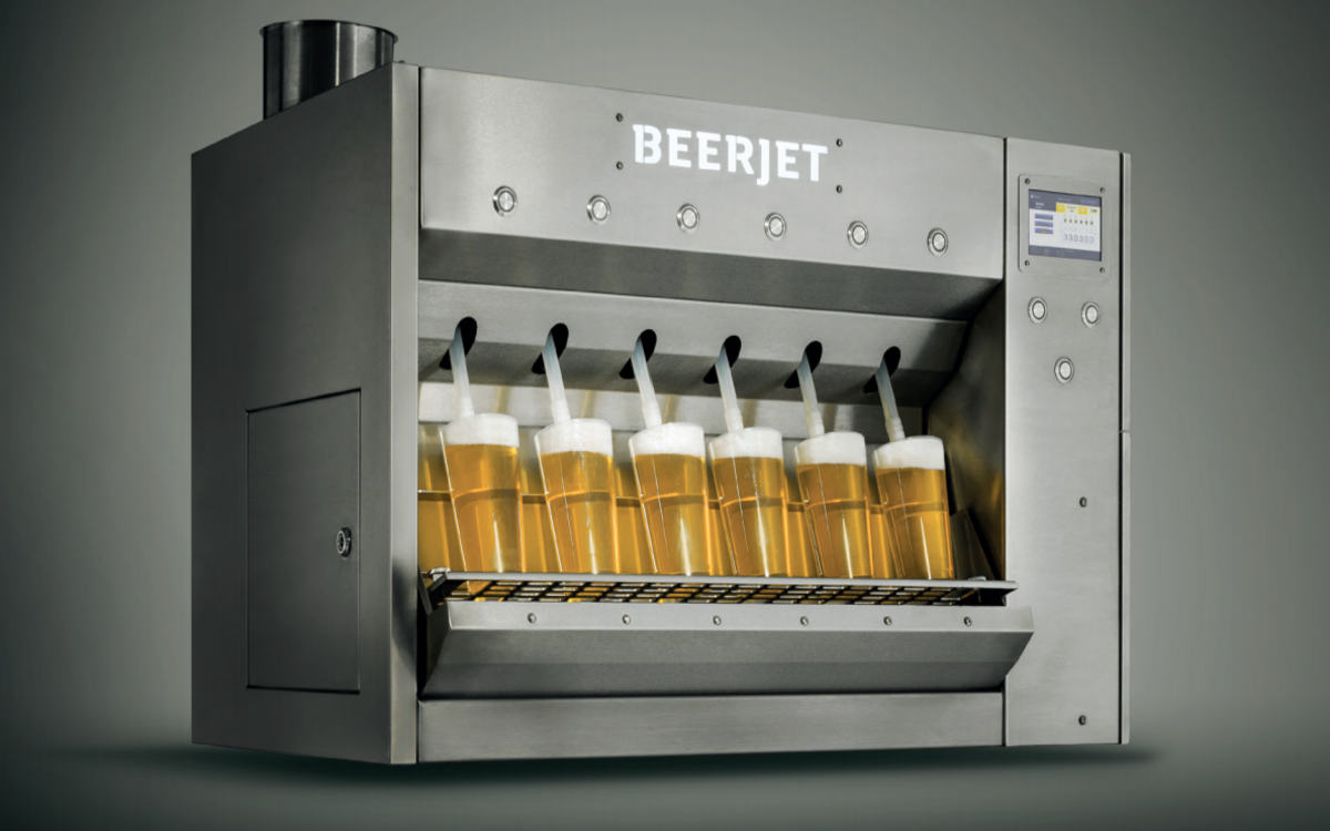 The BeerJet Can Pour 6 Cold Ones in 10 Seconds Flat