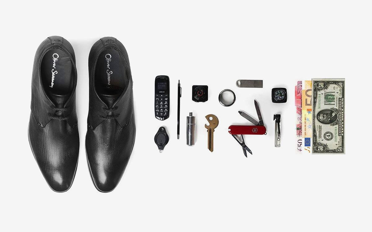 Oliver Sweeney S Secret Shoes Can Hold Up To Six Gadgets