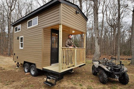This Hunting 'Shack' Has a Porch, King-Size Bed