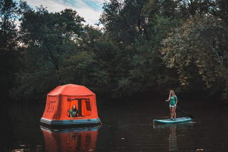 Take a Deep Breath, Blow Up This Tent and Set Sail