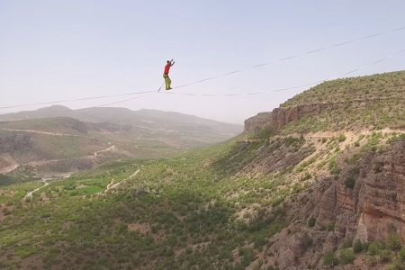 World's Longest Slackline Record? We'll Just Watch, Thanks.