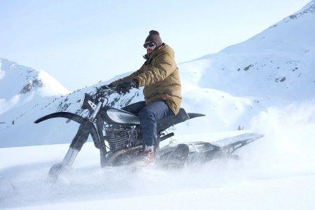 Cute Toboggan. But Have You Tried a Custom Yamaha Snowbike?