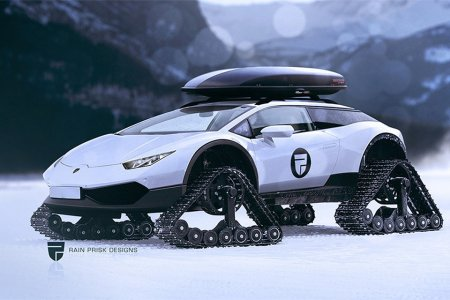 What, You've Never Seen a Lamborghini Snowmobile Before?