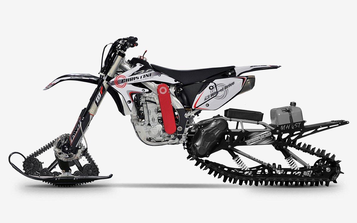 Dirt Bike Snowmobile >> Christini All Wheel Drive Utility Bike Insidehook