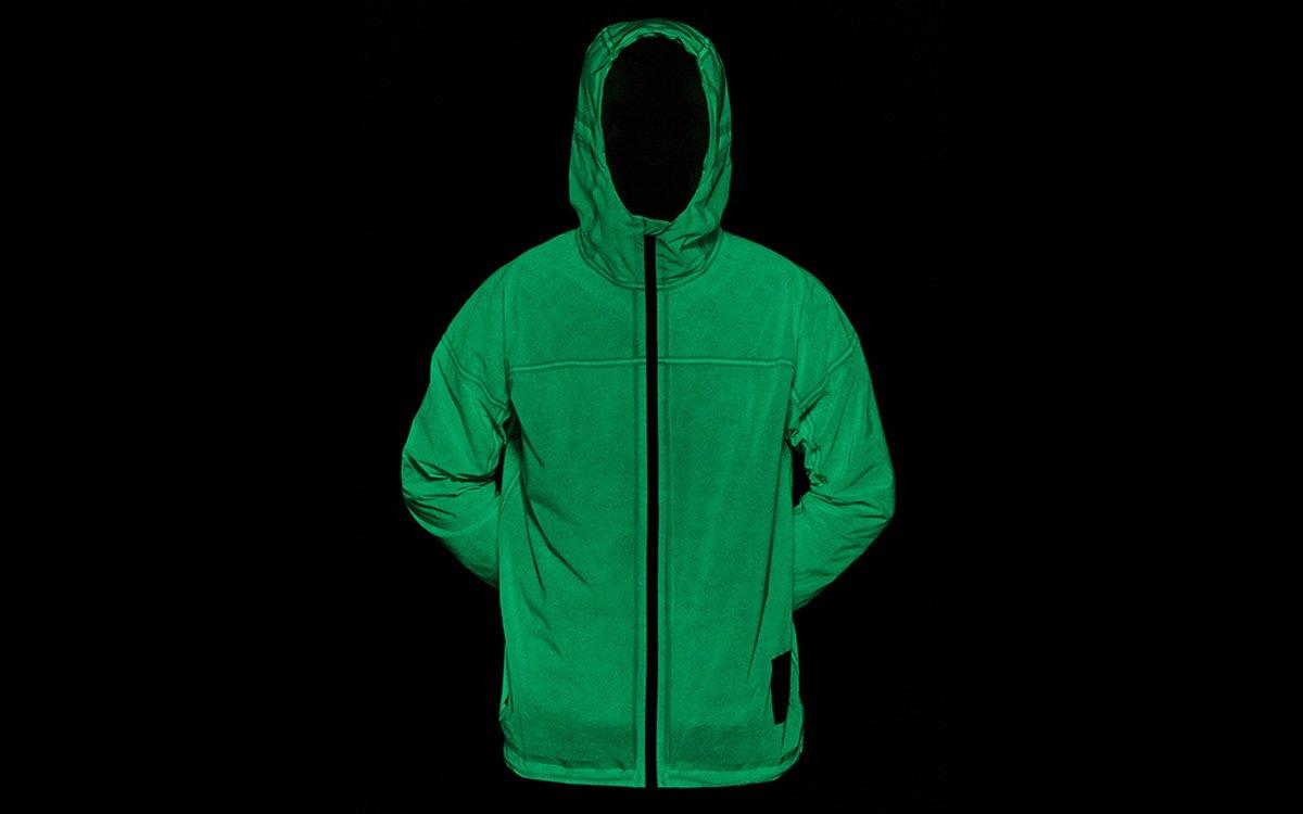 Vollebak's Solar Charged Rain Jacket Glows in he Dark