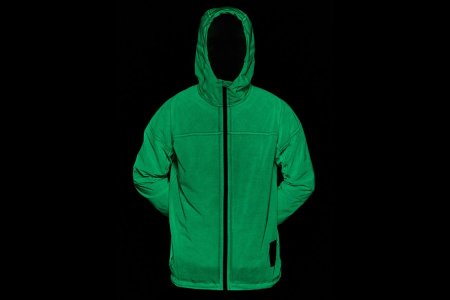 Vollebak's New Glow-in-the-Dark Rain Jacket Is 'Ghostbusters' Green