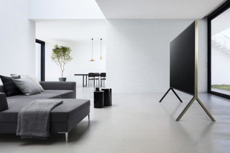 Sony's New Easel-Style 100″ TV Is a Majestic Piece of Home Technology