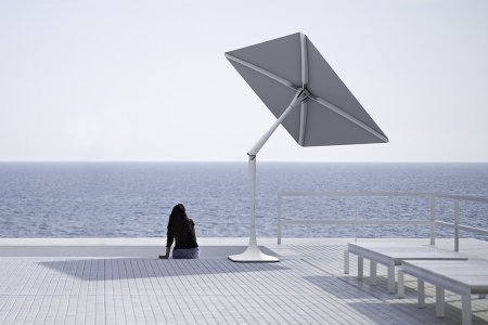 A Solar-Powered Wifi-Having Beach Umbrella Because 2017