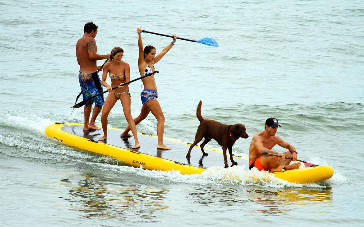 This Giant Inflatable Paddleboard Can Carry You, Seven Friends