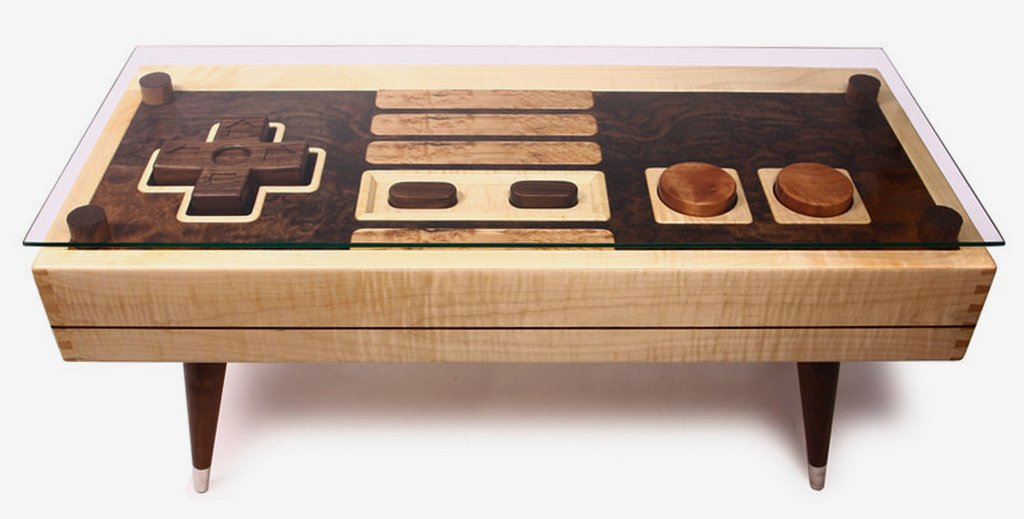 Controller Coffee Table.Nes Controller Coffee Table By Bohemian Workbench On Etsy Insidehook