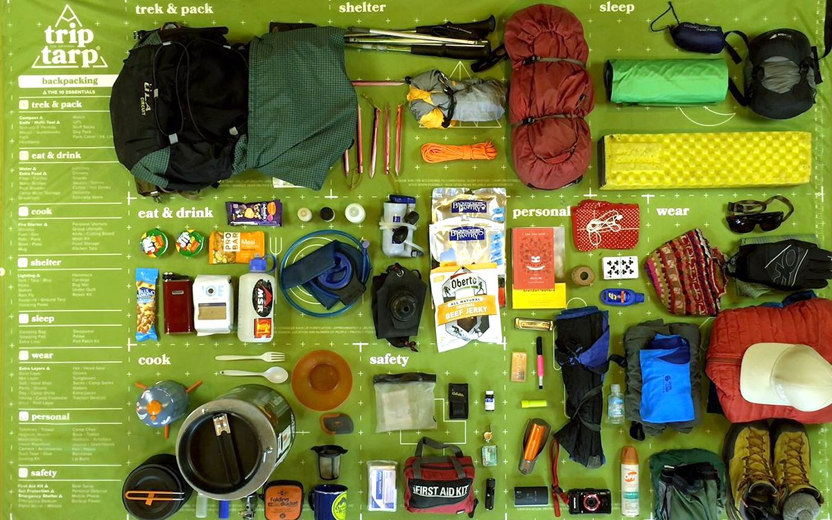 Genius Camping Tarp Doubles as an Outdoor Preparedness Checklist