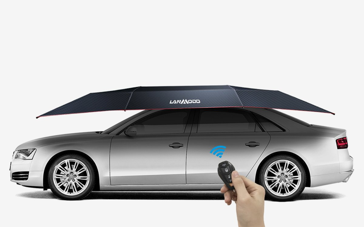 This Transforming Sunshade Is Like Owning a Portable One-Car Garage