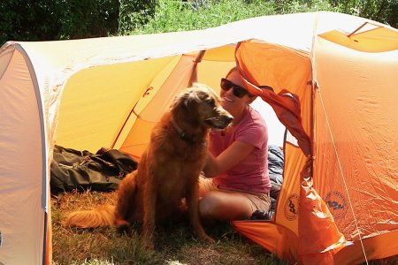 This Tent Comes With a Mudroom for Your Dog