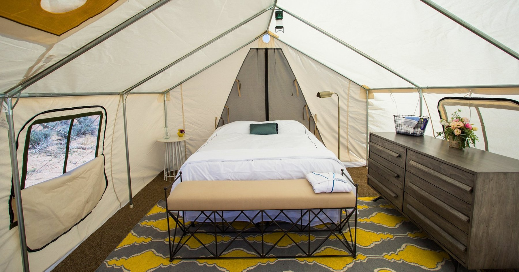Two New Glamping Concerns Just Popped Up on a Beach in Queens