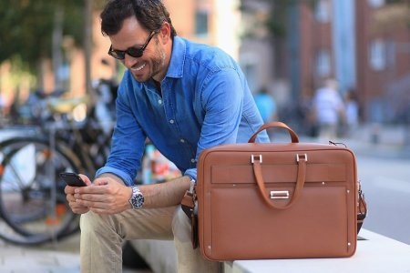 A Leather Briefcase From the Future