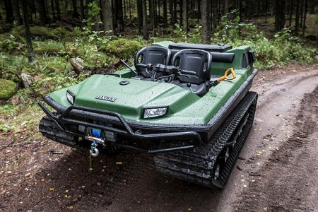 Here's a Pontoon Boat With Tank Treads, Which Is Fun