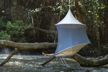A Personal Hanging Cabana to Help Live Your Best Resort Life