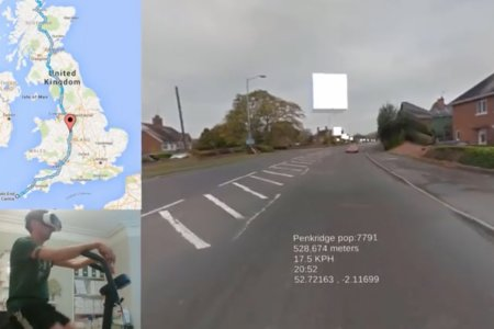 Watch This Guy Bike the Length of the UK in Virtual Reality