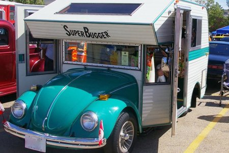 Yes, They Used to Turn VW Bugs Into Campers