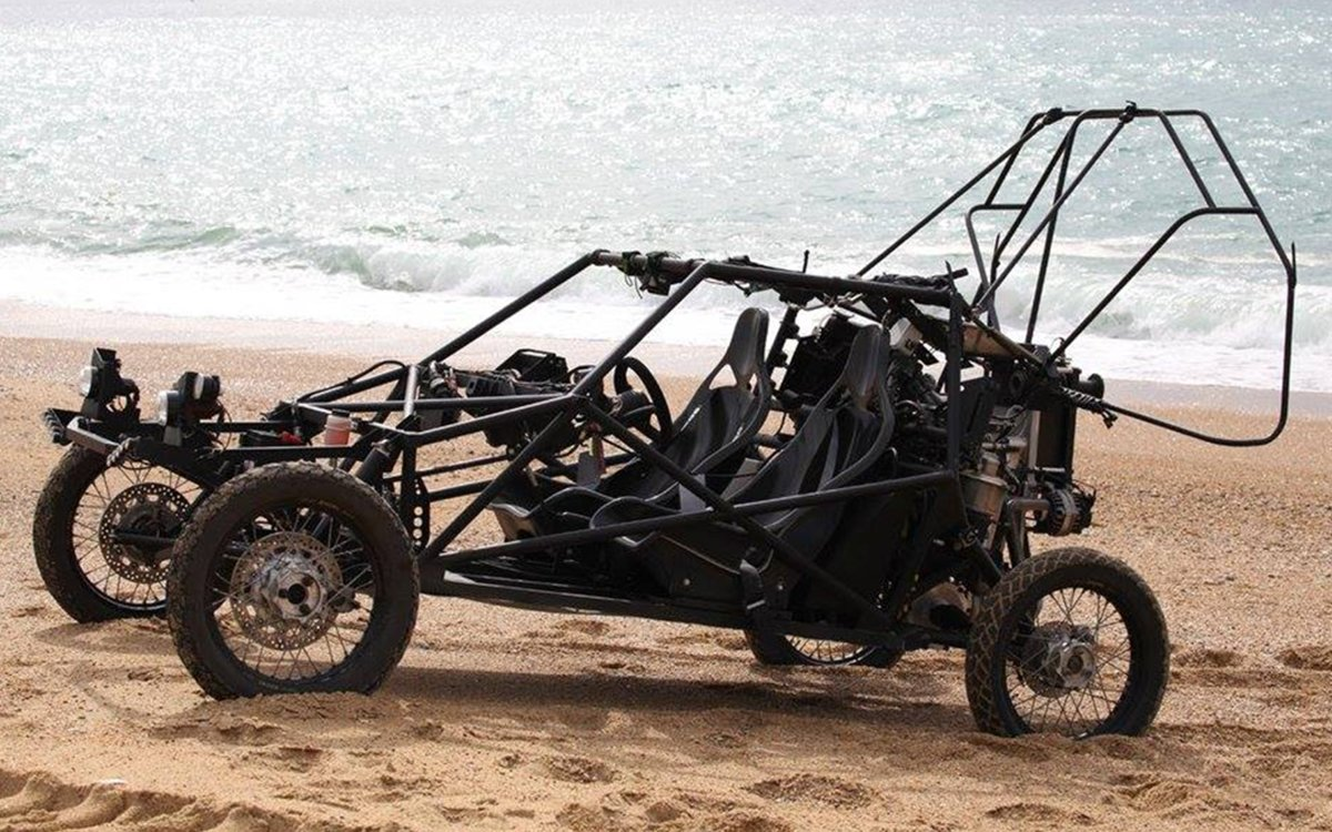 A Man Just Flew a Dune Buggy Across the English Channel