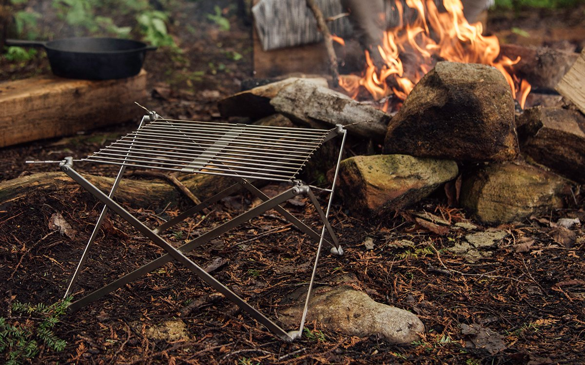 A Folding Grill So Small You'll Probably Lose It in Your Backpack
