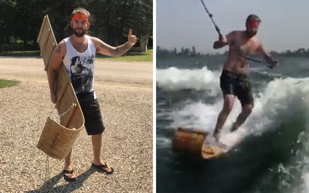 Wakeboarding on a Toboggan Looks Very Difficult, Canadian