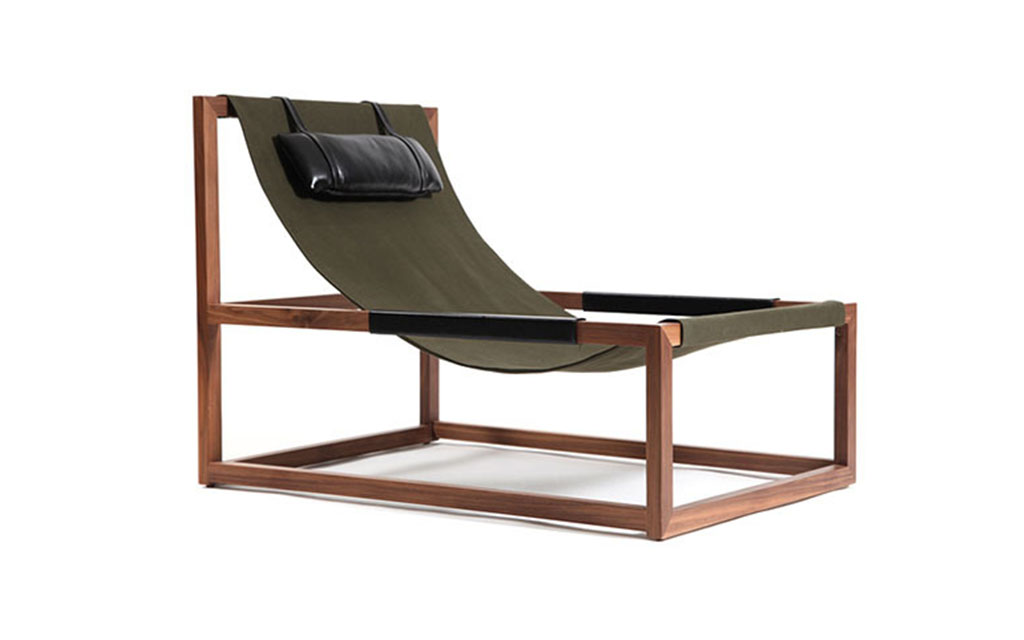 MARE Walnut and Black Leather Chair