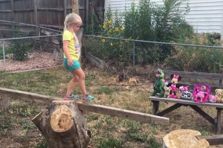 Cool Dad Builds Backyard Ninja Warrior Course for Cool Daughter