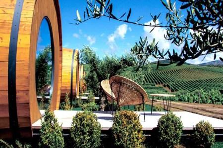 Wine barrel room Portugal