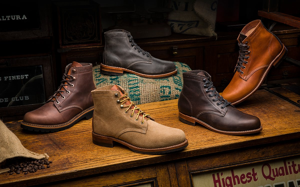 a25acb51d2f Coffee-themed Wolverine 1000 Mile Café Boots Collection - InsideHook